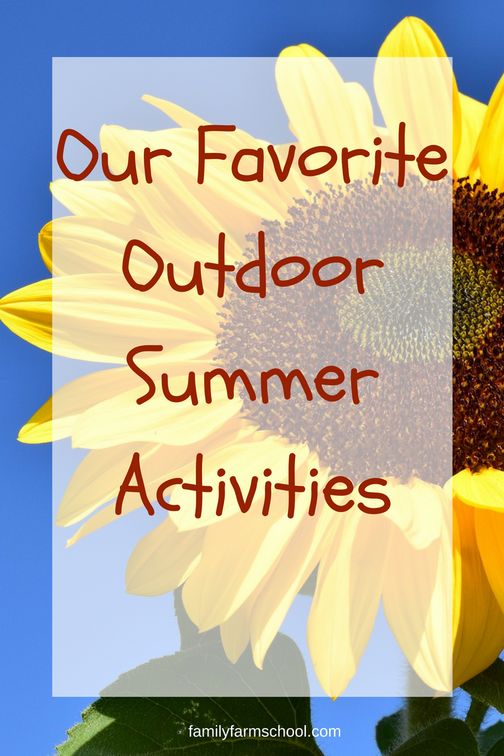 Our Favorite Outdoor Summer Activities