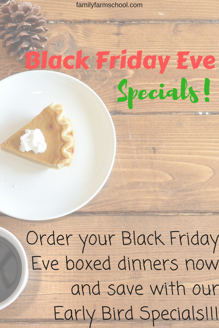 Save with Black Friday Eve specials!